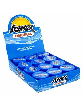 Savex Jar Lip Moisturizer 0.25oz (12 Pieces) Display Original by Savex