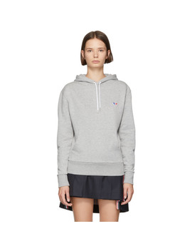 Grey Tricolor Fox Patch Hoodie by Maison KitsunÉ
