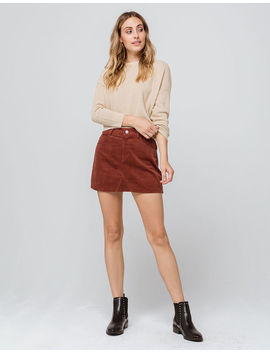 Sky And Sparrow Corduroy Mini Skirt by Sky And Sparrow
