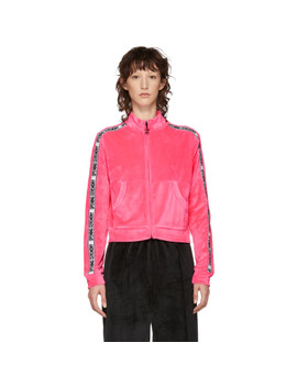Pink Velour Track Zip Up Jacket by Opening Ceremony