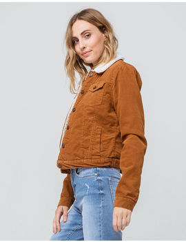 Ashley Sherpa Womens Corduroy Jaket by Ashley