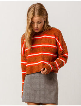Volcom The Favorite Sweater Rust Womens Chenille Sweater by Volcom