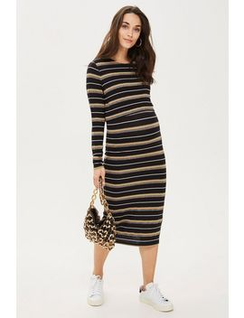**Maternity Nursing Stripe Bodycon Dress by Topshop