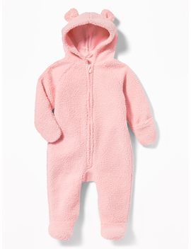 Hooded Sherpa Footed One Piece For Baby by Old Navy
