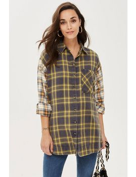 **Maternity Mixed Check Shirt by Topshop