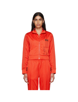 Red Crop Track Jacket by Adidas Originals By Alexander Wang