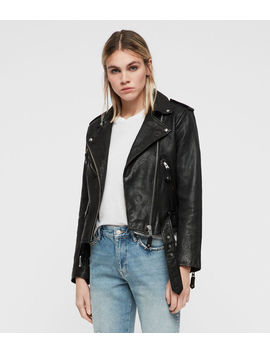 Sarana Leather Biker Jacket by Allsaints