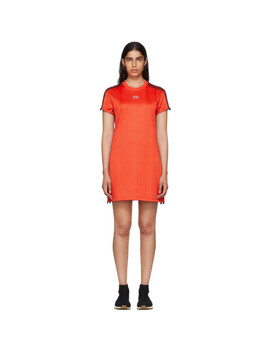 Red Track Dress by Adidas Originals By Alexander Wang