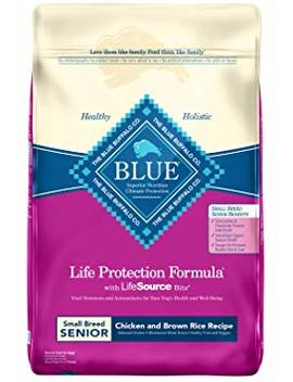 Blue Buffalo Life Protection Formula Natural Senior Small Breed Dry Dog Food, Chicken And Brown Rice by Blue Life Protection Dog Food