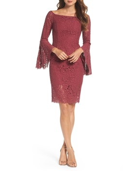 Solange Corded Lace Sheath Dress by Bardot