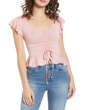 Cinch Front Top by Chloe And Katie