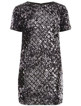 Petite Purple Sequin Embellished Shift Dress by Dorothy Perkins