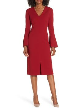 Metro Knit Sheath Dress by Maggy London