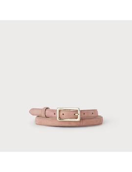 Glenda Pink Suede Belt by L.K.Bennett