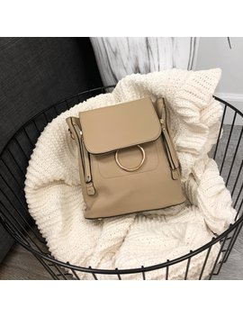Chloe Mini Backpack (Taupe) by Laura's Boutique