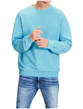 Fluro Sweat Crew Neck In Iceberg Green by Jack & Jones