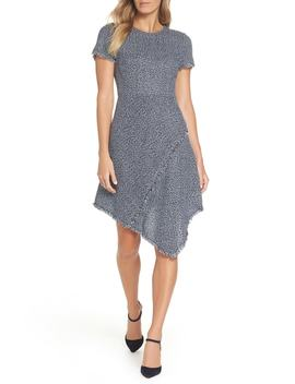 Asymmetrical Tweed Dress by Eliza J