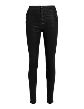 Natasha High Rise Black Coated Skinny Jeans by J Brand