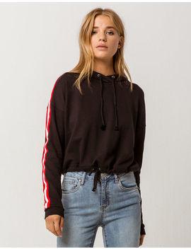 Full Tilt Athletic Stripe Womens Crop Hoodie by Full Tilt