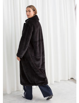 Long Faux Fur Coat by & Other Stories
