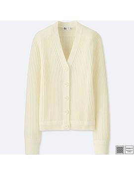 Women U Merino Blend V Neck Cardigan by Uniqlo