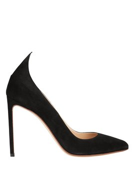 Point Back Suede Pumps by Francesco Russo