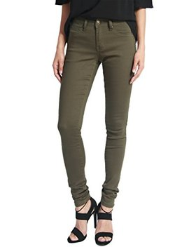 The Mogan Women's Basic Army Olive Green 5 Pocket Stretch Denim Skinny Jeans by The Mogan