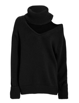 Drop Shoulder Cutout Sweater by Monse