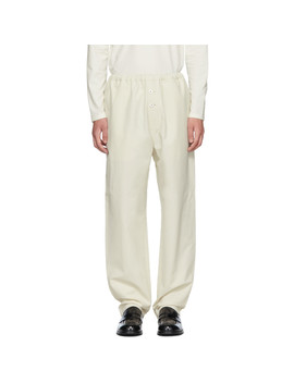 Pantalon Blanc Pull Up by Jil Sander