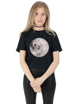 Full Moon T Shirt Top Shirt Tee Fashion Blogger Space Alien Head Grunge by Etsy