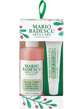 Rosewater Facial Spray & Lip Balm Ornament by Mario Badescu