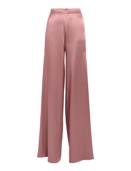 High Waist Silk Mauve Pants by Cushnie
