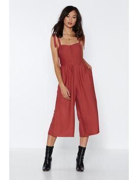Tie It Over Jumpsuit by Nasty Gal