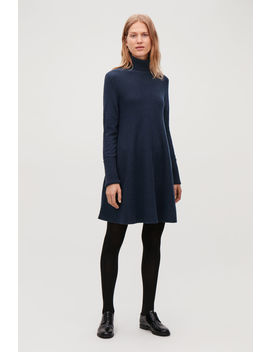 Lambswool Knit A Line Dress by Cos