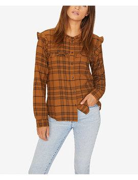 Ruffled Plaid Shirt by Sanctuary