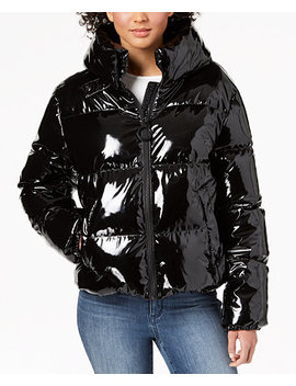 Cropped Shiny Puffer Coat by Kendall + Kylie