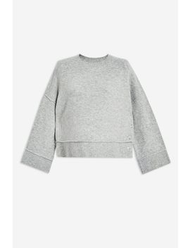 **Maternity Popper Crew Jumper by Topshop