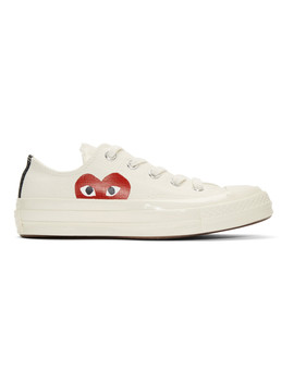 Off White Converse Edition Half Heart Chuck Taylor All Star '70 Sneakers by Comme Des GarÇons Play