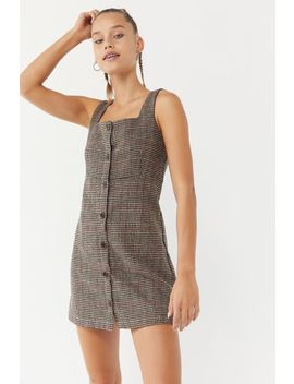Side Party Lotte Houndstooth Button Front Dress by Side Party