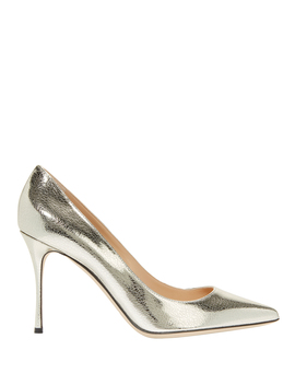 Godiva Cracked Leather Pumps by Sergio Rossi