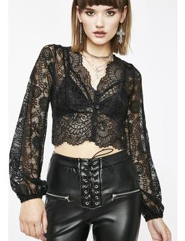 Keep Dreaming Lace Top by Hot Delicious
