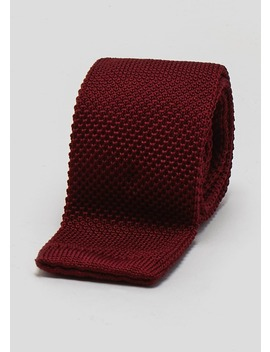 Skinny Knitted Tie by Matalan