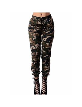 Womens Military Camo Cargo Combat Casual Long Work Pants by Zanzea
