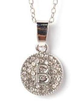 Chic And Unique 'b' Necklace   Silver by Fashion Nova