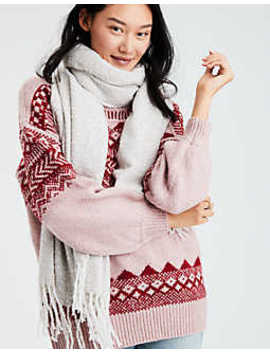 Aeo Marl Boucle Blanket Scarf by American Eagle Outfitters