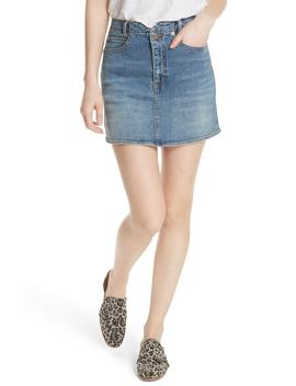 She's All That Denim Miniskirt by Free People