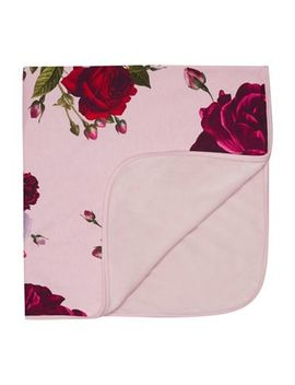 Baker By Ted Baker   Baby Girls' Dark Rose Floral Print Blanket by Baker By Ted Baker