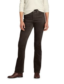 Women's Petite Mid Rise Corduroy Bootcut Pants by Lands' End