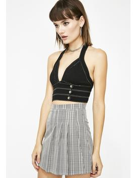 First Name Ashley Plaid Skirt by French Kiss