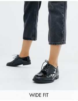 New Look Wide Fit   Chaussures Richelieu Vernies à Lacets   Noir by New Look